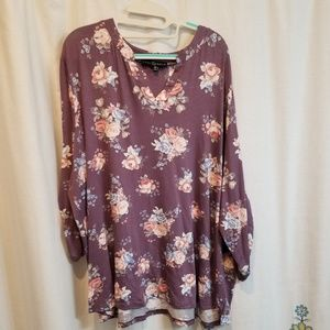Nwt purple floral soft shirt